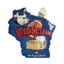 STATE OF WISCONSIN Old World Christmas Glass Ornament 36167