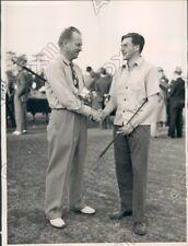 1940 Pine Hurst North South Pro Am Golf John Thoren Robert Frackleton Press Phot