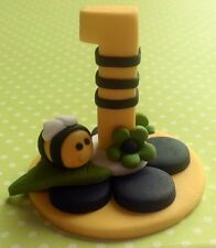 Edible Bumble Bee 3D Up right Number BIRTHDAY CAKES DECORATIONS CUPCAKES TOPPERS