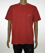 Tasso Elba Island Mens Space Dye Red RapiDry Sun Protection UPF 25 T-Shirt L
