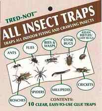 10 pk Insect Trap / Sticky Strip / Glue Sheet. Traps ALL insects, bugs, No Odor