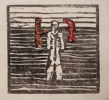Unleserlich signiert - Badende - Farbholzschnitt n, Egon Schiele - 1978 - 17/30