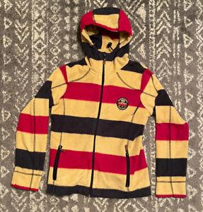 Horseware Ireland Striped Hooded Fleece Jacket Size Small S