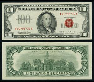 FR. 1551 $100 1966-A Legal Tender AU