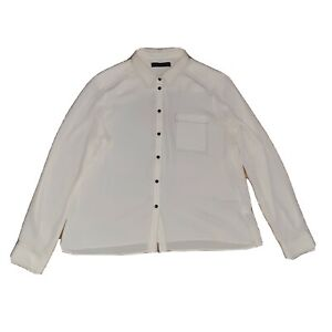 Marks And Spencer Size 14 Winter White Cream Long Sleeve Contrast Stiching...