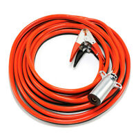 Aircraft Jumper Cable with Round 1-Pin Plug Piper Style Plug, 2 Gauge 25 Feet