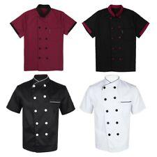 Women Men Chef Coats Kitchen Hotel Uniform Cooker Restaurant Short Sleeve Jacket