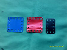 "meccano parts 194A 2 1/2"" x 2 1/2""x 2, 194 2 1/2"" x 1 1/2"" x 1 plastic flexible"