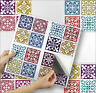 "Stick On Tile Transfer Stickers 6""x6"" Moroccan Mosaic Kitchen & Bathroom Tiles"