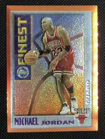 MICHAEL JORDAN 1995 96 TOPPS ORANGE MYSTERY FINEST #M1 INSERT BULLS 💎 SHARP! 🔥