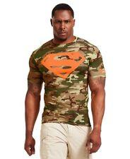 Under Armour Mens Superman Alter Ego Short Sleeve Compression Shirt Vegas Gold 3xl