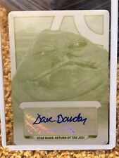 Star Wars Topps 2017 Autograph Card Galactic Files Dave Barclay 1/1 Plate