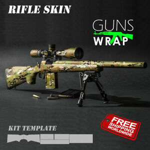 Rifle skins 201 patterns GunsWrap Best skin Camouflage Kit for Gun. Gun Wrap Kit