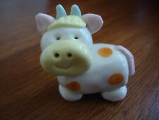 Collectibles Cow Handmade Miniatures Animals dollhouse Figurines, Orange Dots