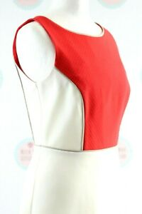 Dorothy Perkins Pink & White Work Summer Sleeveless Dress UK Size 8