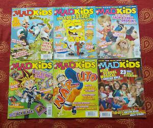 MAD KIDS MAGAZINE (6) PIECE MAGAZINE LOT ISSUE #'s 1-6 2005-2007