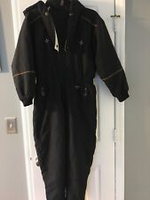 VTG Fera Skiwear Women's One Piece Snow Ski Suit Size 14/6 P Black