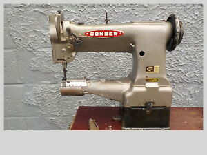 Industrial Sewing Machine Model Consew 227 , Grey,walking foot,cylinder, Leather