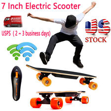 7 Inch Remote Control Four Wheels Electric Skateboard Longboard Skate Board US