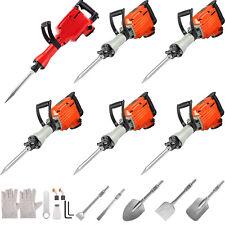 Vevor Demolition Jack Hammer Concrete Breaker 110022003600w 2346 Chisel Bit