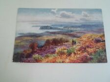 SCARBOROUGH, From the Moors, Vintage Raphael Tuck & Sons Postcard  §E2534