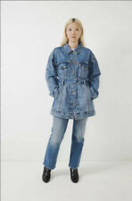 NWT $128 LEVI'S SIZE SMALL BELTED DENIM TRUCKER JACKET
