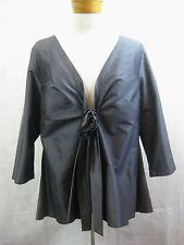 Breathless Size 5 or 14 Elegant Silk Graphite Grey Skirt Suit NWT