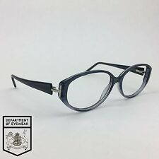 GIVENCHY eyeglasses STRIPPED BLUE OVAL CATS EYE frame MOD: VGV 522