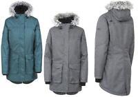 Womens Trespass Thundery Waterproof Parka Jacket | Long Hooded Coat