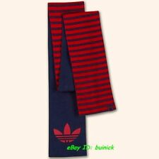ADIDAS ADICOLOR STRIPES SCARF Navy-Red Knitted Big Trefoil Logo NEW