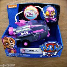Nickelodeon PAW PATROL SKYE'S ROCKET SHIP Vehicle Figure Spaceship Astronaut 3+