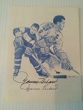 Maurice Richard autographed  5 x 7 promotional card card