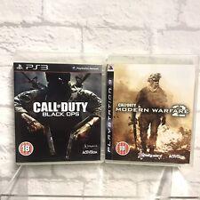 Call of Duty Modern Warfare 2 & Black Ops Paquete PS3 Tirador de juegos de guerra