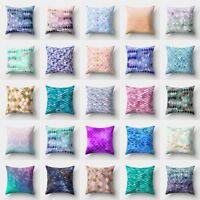 Glitter Sequins Throw Pillow Case Sofa Waist Cushion Cover Home Decor Pillows