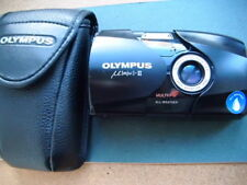 Olympus mju:-II 35mm Compact Film Camera with 35 mm f2.8 fast lens in case