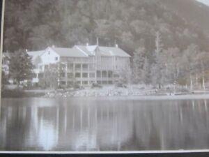 1920s PHOTO Landmark Adirondack Cascade Lakes Club & Boathouse / attributed $24