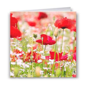 Poppies & Wildflowers Greeting Card