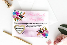 Will you God Mother God Father God Parents Card Gold Heart Personalised Scratch