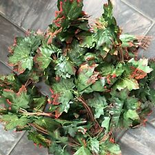 5 Maple Leaf Garlands Green/red 8ft Long