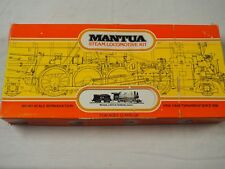 Vintage MANTUA Mogul 2-6-0 Steam Locomotive & Tender HO Scale Train Kit w/ Box