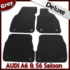 Audi A6 Saloon C5 1997-2005 Tailored LUXURY 1300g Carpet Car Floor Mats GREY