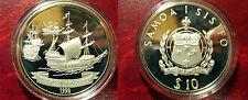 1992 Samoa Large silver Proof 10 Tala Sailing Ship Fleet of Roggeveen