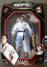 Royce Gracie Autographed JAKKS FIGURE JSA Signed BELLATOR PRIDE UFC PSA TOY
