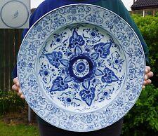 Enorme 39.2cm Cinese Antico Blu e bianco porcellana Piastra Buddista Kangxi 18thC