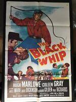 BLACK WHIP Original One sheet Movie Poster 27x41 Marlowe Western 1956  Quebec