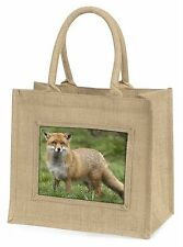 Red Fox Country Wildlife Large Natural Jute Shopping Bag Christmas Gif, AF-10BLN