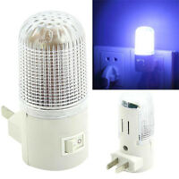 LED Night Light Bedside Lamp Wall Mounted US Plug 4LED Bedroom Lighting Bulb One