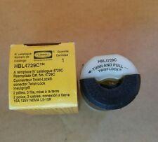 Hubbell 4729C Insulgrip Twist Lock Connector 15A 125V 2 Poles 3Wr  HBL4729C