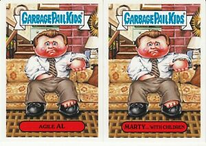 2019 GARBAGE PAIL KIDS GROSS CARD CON PROMOS AGILE AL MARTY WITH CHILDREN 1A/B