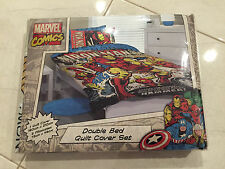 IRON MAN MARVEL COMICS Quilt Cover Set & Pillowcase DOUBLE Authentic *NEW* SALE!